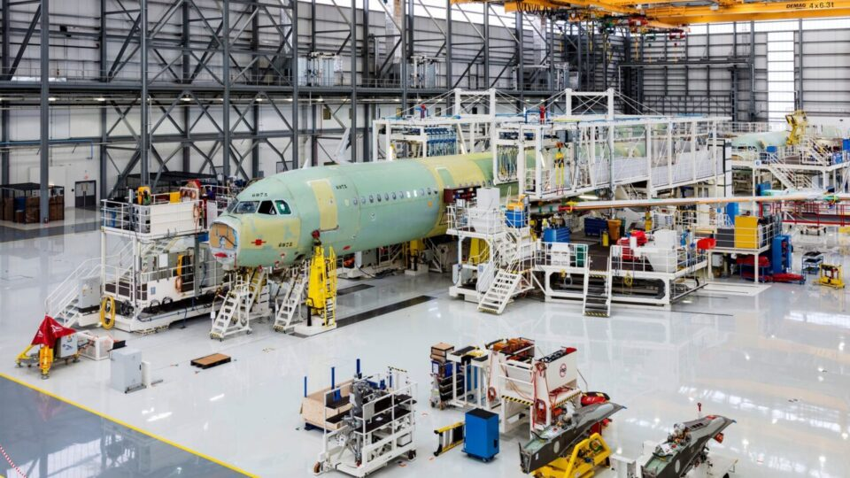 Línea de montaje de Airbus en Mobile, Alabama