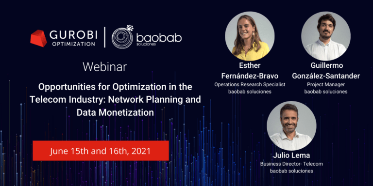 Read more about the article Webinar: Mathematical Optimization in the Telecom Industry, organized by Gurobi.