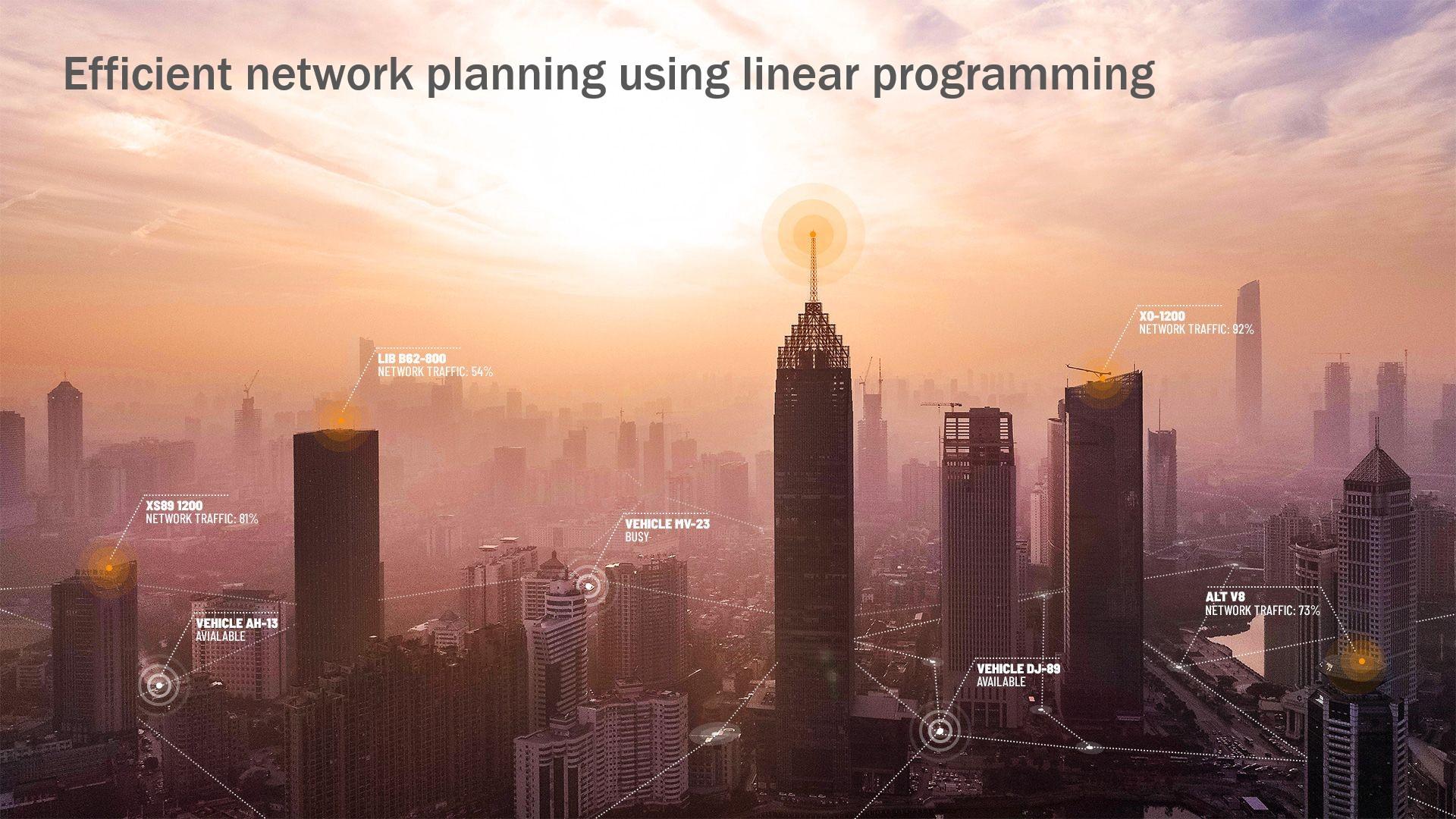 Webinar on efficient cellular network planning