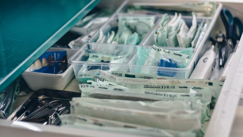 Material hospitalario esterilizado