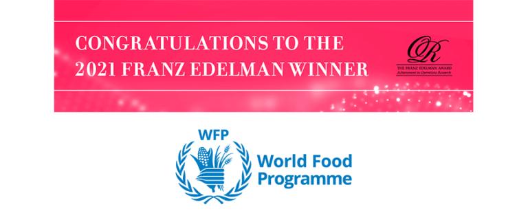 Lee más sobre el artículo El World Food Programme obtiene el Premio Franz Edelman